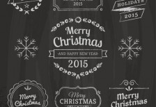 free-vector-christmas-design-elements-blackboard-texture