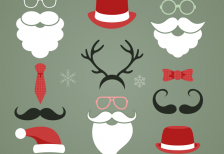 free-vector-christmas-hipster-elements-freepik