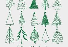 free-vector-christmas-trees-sketches-freepik