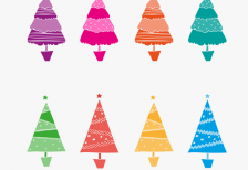 free-vector-colorful-abstract-christmas-trees-freepik