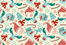 free-vector-editable-pattern-christmas-elements-freepik