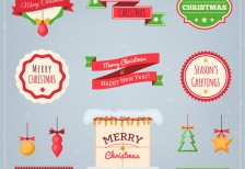 free-vector-flat-christmas-elements-pack-freepik