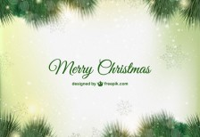 free-vector-green-christmas-card-freepik