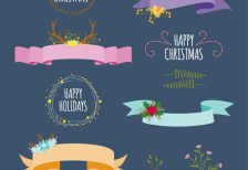 free-vector-minimalist-christmas-ribbons-greetings-freepik