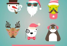 free-vector-retro-christmas-characters-freepik