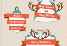 free-vector-retro-christmas-stickers-freepik