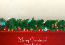 free-vector-vintage-christmas-card-freepik