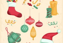 free-vector-vintage-christmas-decoration-freepik