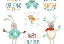 free-vector-vintage-christmas-greetings-cartoons-freepik
