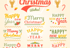 free-vector-vintage-christmas-labels-freepik