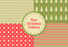 free-vector-vintage-christmas-patterns-pack-freepik