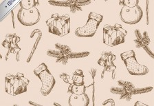 free-pattern-christmas-scribbles-pattern-freepik