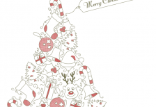 free-template-christmas-tree-red-ornaments-freepik