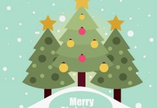 free-template-flat-christmas-card-trees-freepik