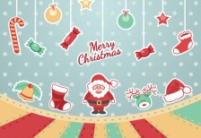 free-template-merry-christmas-vintage-vector-freepik