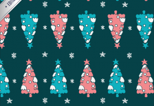 free-vector-christmas-trees-pattern-freepik