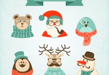 free-vector-hipster-christmas-characters-freepik