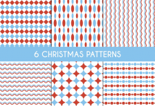 free-vector-red-and-blue-christmas-patterns-freepik