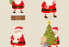 free-vector-santa-claus-cartoons-pack-freepik