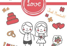 free-vector-wedding-cart-doodle-invitation-23-2147493893-freepik