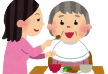 free-illustration-roujin-food-woman-irasutoya