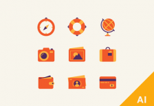 free-icons-travel-dribbble