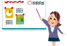 free-illustration-whiteboard-memo-woman-irasutoya