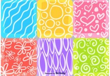free-patterns-summer-and-spring-mosaic-vecteezy