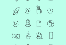 free-icons-one-line-startup-differantly-studio