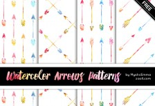 Watercolor Arrows Patterns Preview