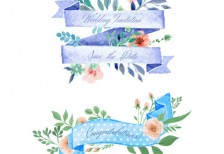 free-vector-floral-ribbons-for-wedding