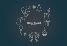 free-icons-winter-line-behance
